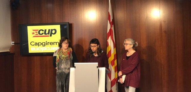 Eulàlia Reguant, Maria Rovira y María José Lecha (CUP)