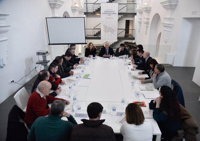 Imagen de la reunión de la Mesa