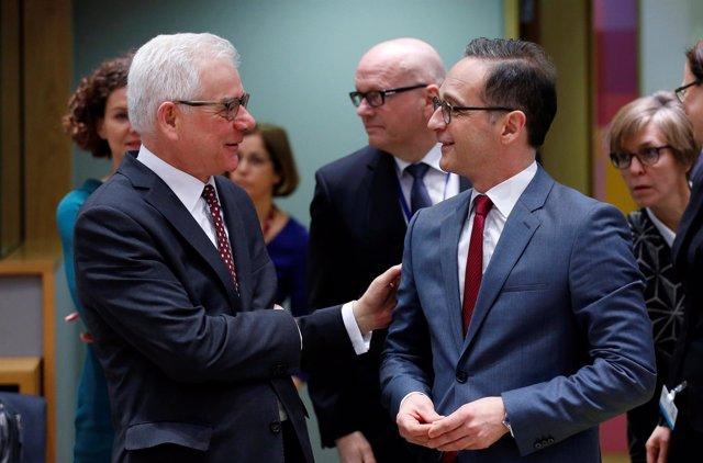 Foto de Archivo de los ministros de Exteriores de Polonia y Alemania