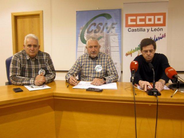 Representantes sindicales de Policía Municipal.