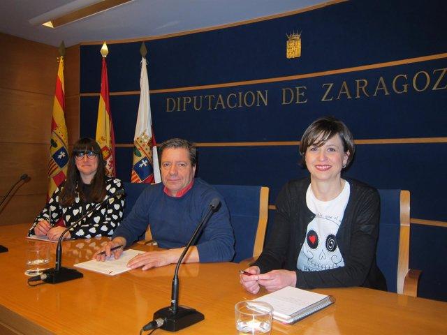 Abellán, Salueña y Larrubia han presentado las visitas teatralizadas sobre Goya