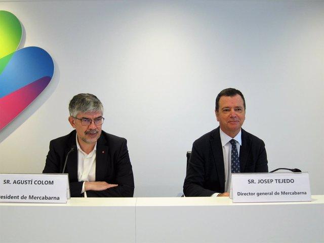 Presidente de Mercabarna Agustí Colom, director general Josep Tejedo