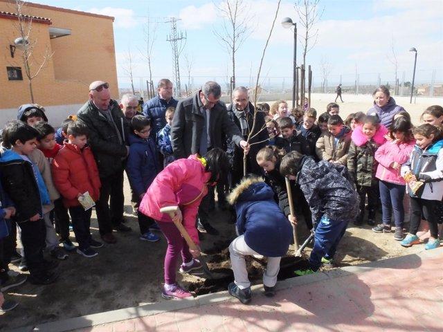 Segovia.- Plantación llevada a cabo con los escolares de La Lastrilla