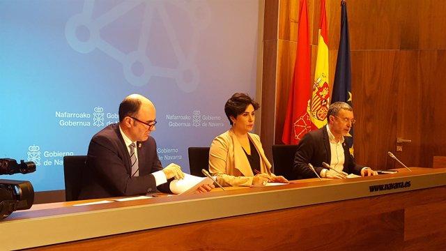 Manu Ayerdi, María Solana y Miguel Laparra.