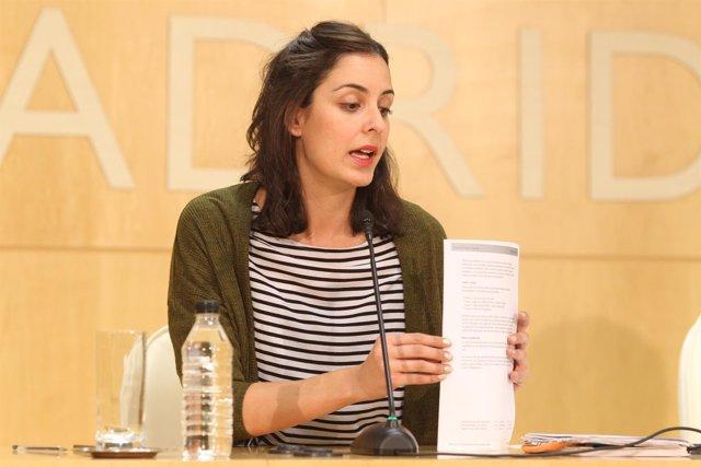 Rita Maestre en la reunión de la Junta de Gobierno