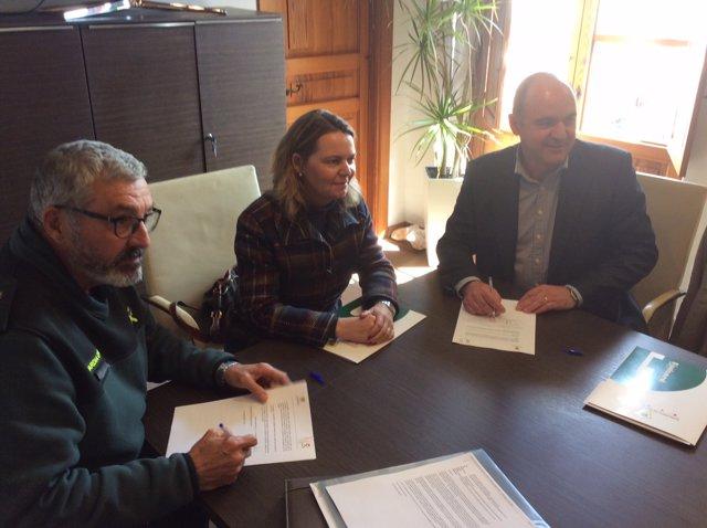 Maria Salom, delegada del Gobierno en Baleares, en junta de seguridad de Ibiza
