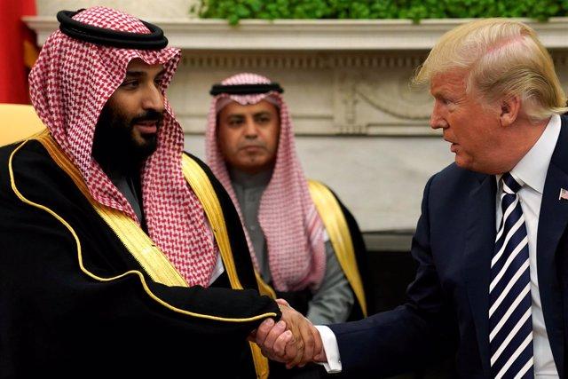 Mohamed bin Salman y Donald Trump