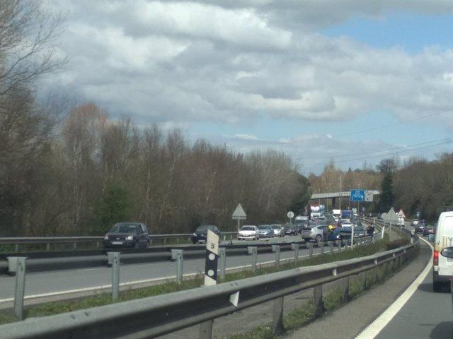 Accidente de tráfico en la A-66, autopista Y