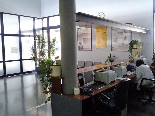 Interior del centro de salud de Las Fuentezuelas.