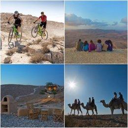 Imágenes de turistas en Israel