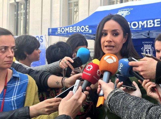 Begoña Villacís atiende a los medios de comunicación 21-3-2018