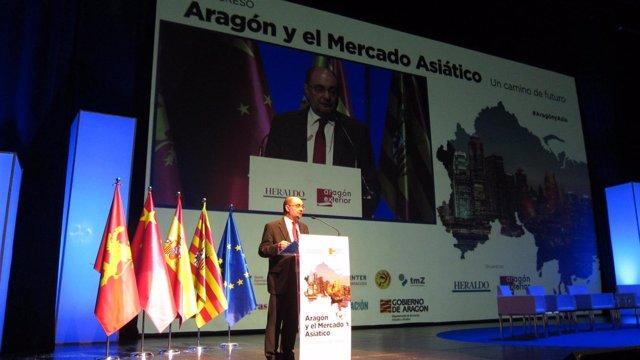 Javier Lambán inaugura el  I Congreso 'Aragón y el Mercado Asiático'