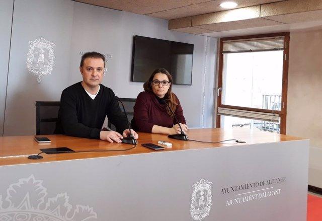 Natxo Bellido y Maria José Espuch, este miércoles