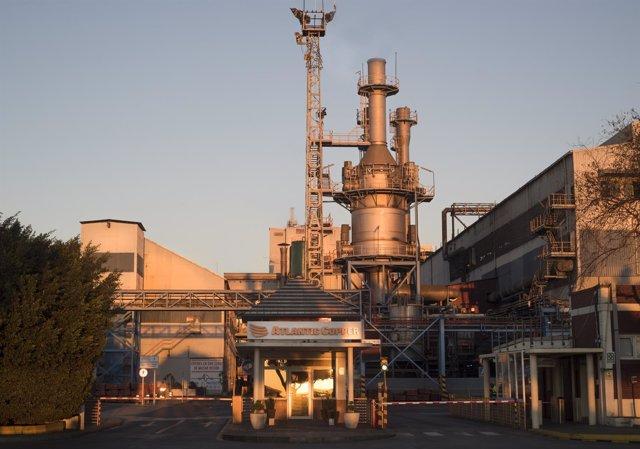 Planta de Atlantic Copper en Huelva.