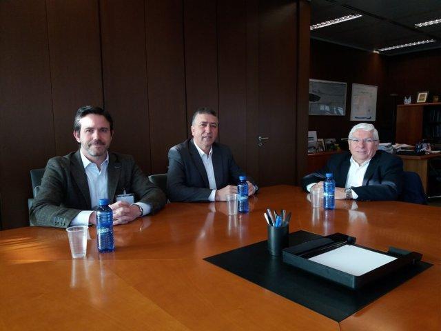 Los titulares de Cecoval y Covaco presentan el proyecto a Climent
