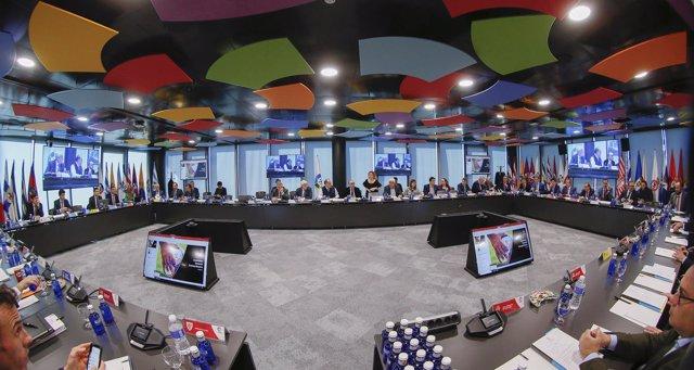 Sala de Juntas de la nueva sede de LaLiga