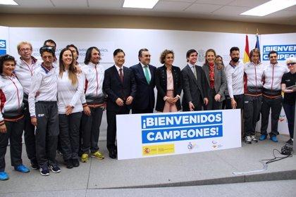"""Dolors Montserrat, a los deportistas paralímpicos de PyeongChang: """"Sois los mejores entre los mejores"""""""