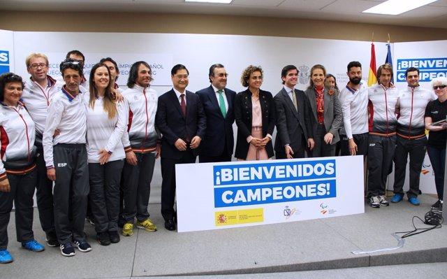 Dolors Montserrat, a los deportistas paralímpicos de PyeongChang: 'Sois los mejores entre los mejores'