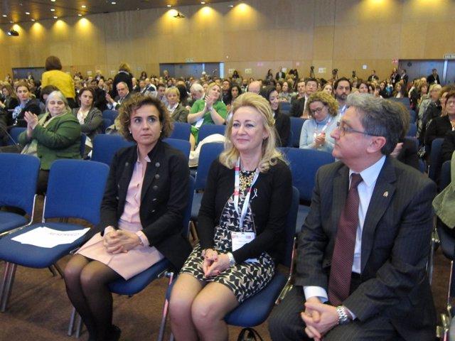 Dolors Montserrat, Isabel Rubio (EBCC) y Enric Millo