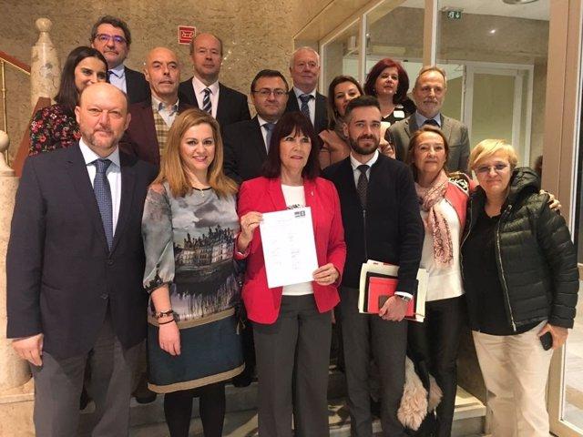 Micaela Navarro y diputados andaluces del PSOE