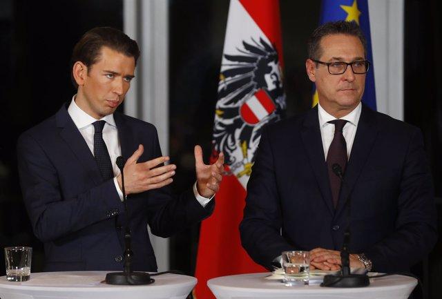 Sebastian Kurz y Heinz-Christian Strache