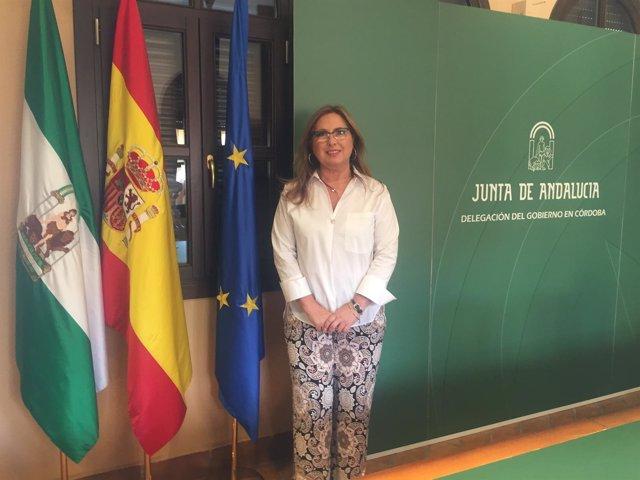 María Ángeles Luna en la Delegación del Gobierno andaluz