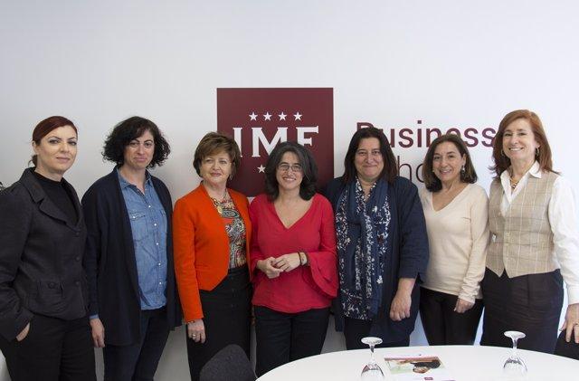 Mesa debate Mujeres y profesiones técnicas de IMF Business School
