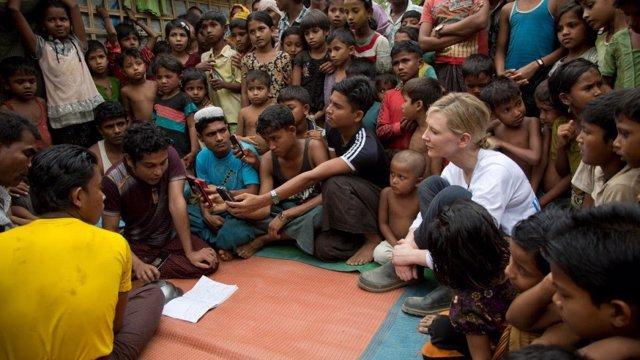 Cate Blanchett en una misión de ACNUR