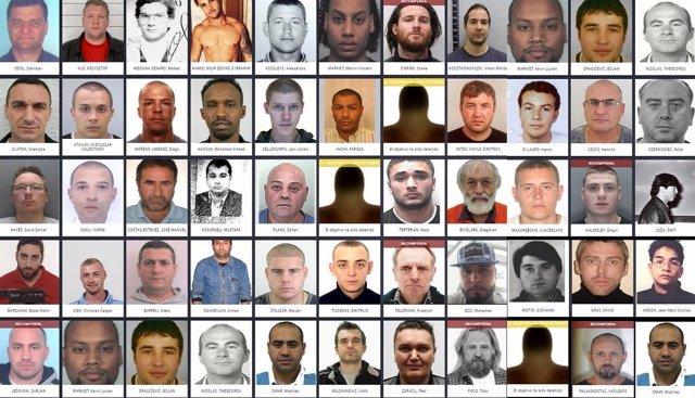 Criminales más buscados en Europa