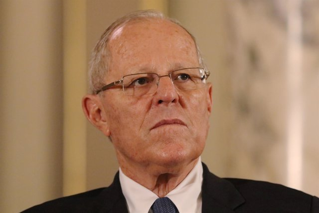 Peru's President Pedro Pablo Kuczynski attends a meeting with U.S. Secretary of