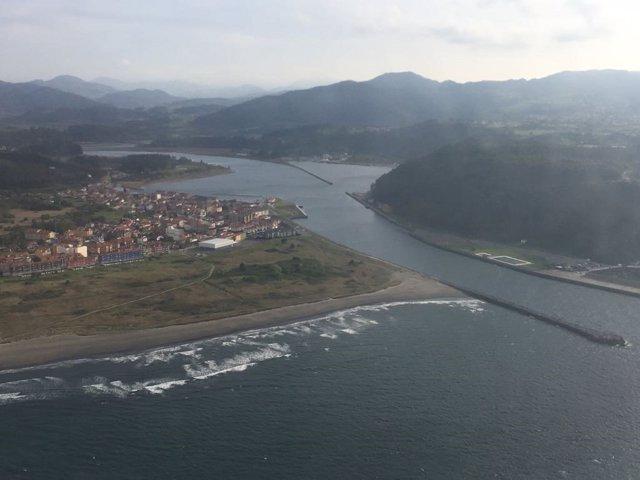 Desembocadura del Nalón en Asturias