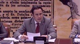 El secretario de Estado de Asuntos Europeos, Jorge Toledo, en el Senado