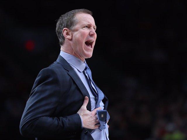 El entrenador de Portland Trail Blazers, Terry Stotts