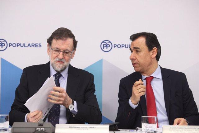 Rajoy y Martínez Maillo en la reunión del Comité Ejecutivo Nacional del PP