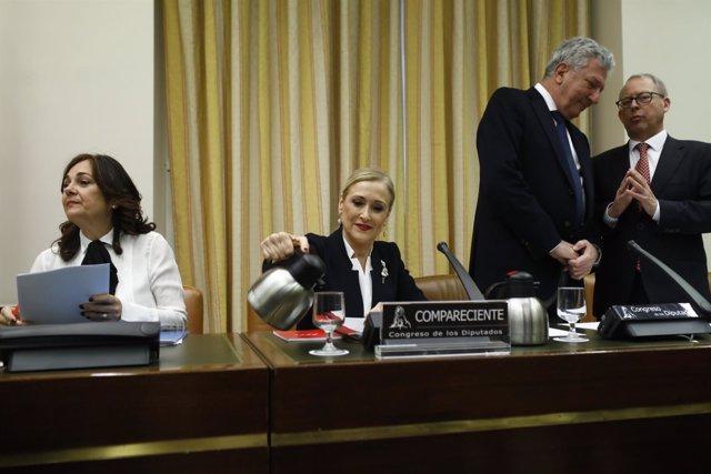 Cifuentes comparece en la comisión sobre la presunta financiación ilegal del PP