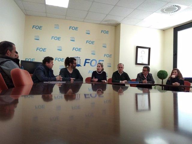 Reunión del Consejo Empresarial de Chiringuitos de la FOE.