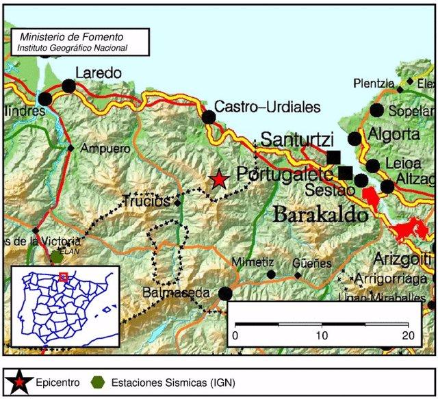 Zona del terremoto