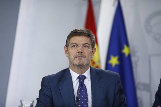 Rueda de prensa de Rafael Catalá tras el Consejo de Ministros