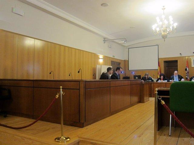 El condenado, en el juicio en la Audiencia de Valladolid.