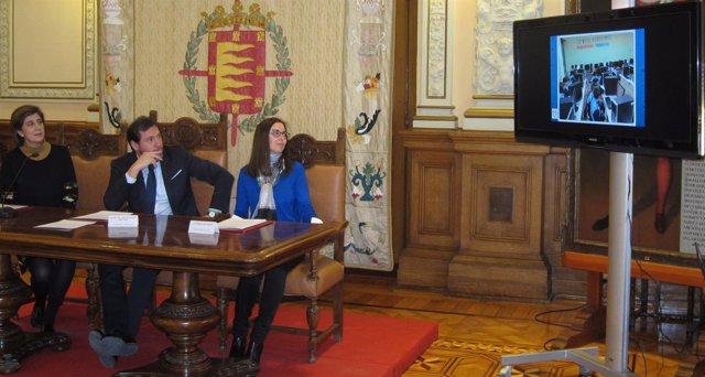 Acto con motivo del Día del Agua en el Ayuntamiento de Valladolid. 22-3-2018