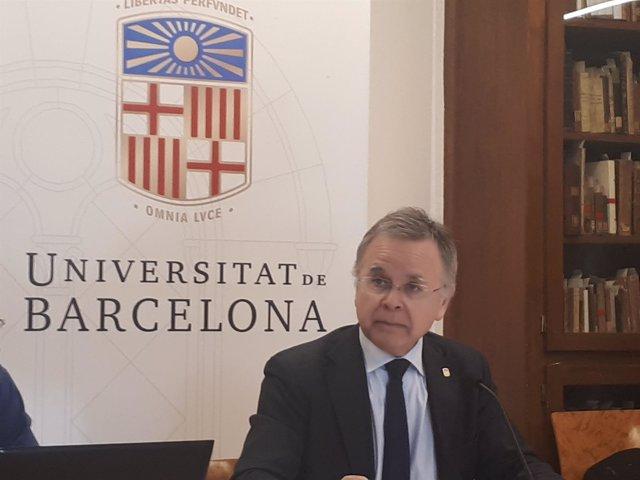 El rector de la Universitat de Barcelona, Joan Elias