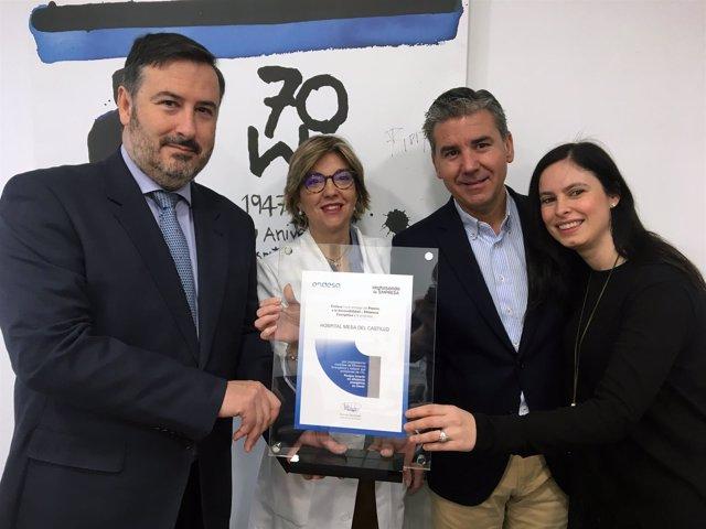 Los responsables de Mesa del Castillo reciben el premio Endesa