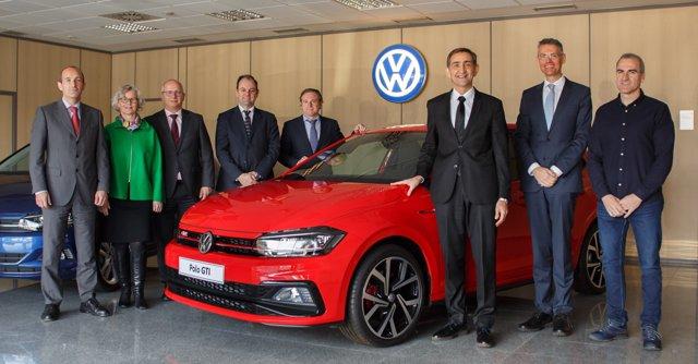 Responsables de la planta de Volkswagen Navarra