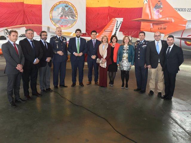 López Miras asiste a los actos conmemorativos de la AGA, en San Javier