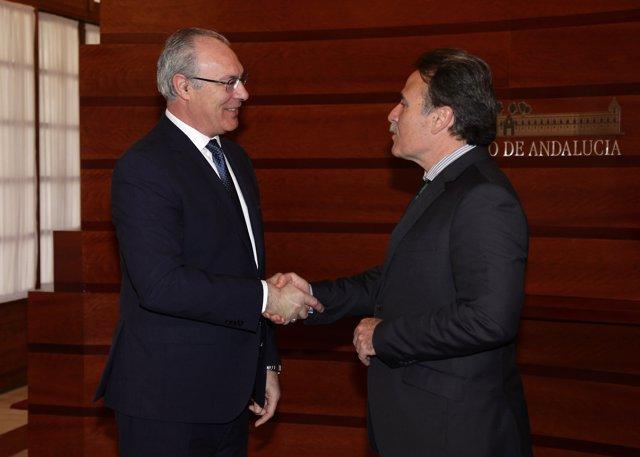 Nota Y Fotos: El Presidente Del Parlamento De Andalucía Recibe Al Embajador De C