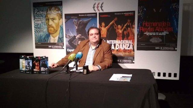 David Garrido, director de la Filmoteca de Extremadura