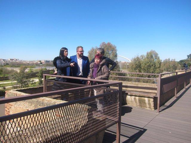 Nueva plataforma y escalera del adarve de la Alcazaba de Mérida (Badajoz)