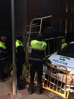 Cercado realizado por la Policía Local