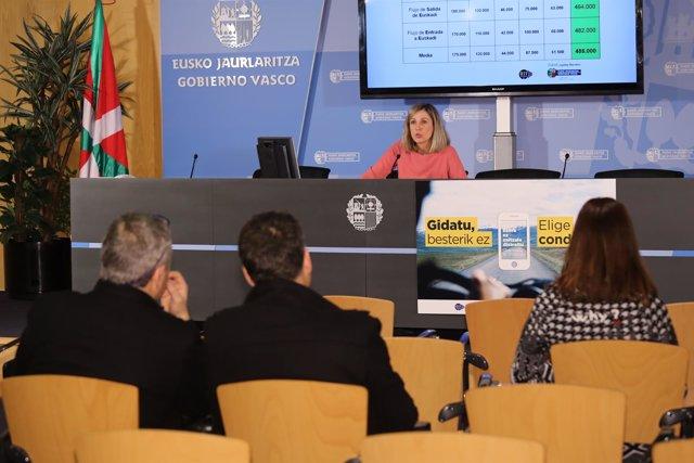 La directora de Tráfico presenta la operación especial de Semana Santa en Bilbao