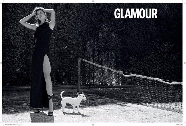 Garbiñe Muguruza posa para la revista Glamour